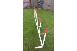 2 x 2 Aluminium-Base Dog Agility Weaves (6 poles)