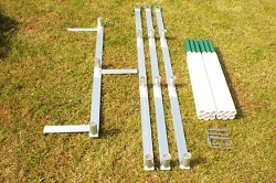 Aluminium Competition Dog Agility Weaves  (12 poles)