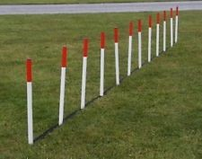 12 Dog Agility Weave Poles With Spacers