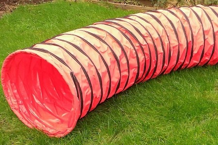 4.5m Dog Agility Tunnel (Red)