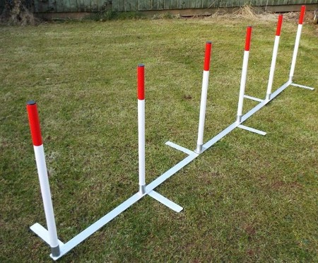 Aluminium Competition Dog Agility Weaves  (6 poles)