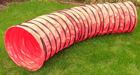 3m Dog Agility Tunnel (Red)