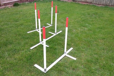 2 x 2 Aluminium-Base Dog Agility Weaves (12 poles)