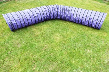 4.5m Dog Agility Tunnel (Purple)